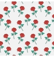 pattern sticker rose vector image vector image