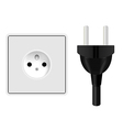 Power Plug and Socket vector image vector image
