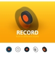 Record icon in different style vector image vector image