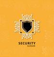 security design with sheild logo vector image