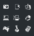 set gadgets icons vector image