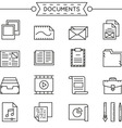 set linear documents icons vector image
