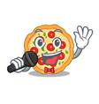 singing margherita pizza isolated with the vector image vector image