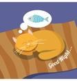 Sleeping cat background vector image vector image