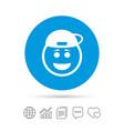 smile rapper face icon smiley symbol vector image vector image