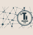 titanium chemical element vector image vector image