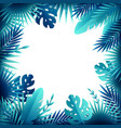 tropical leaves frame composition vector image vector image