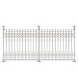 victorian fence styles vector image vector image