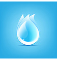 Water Drops Symbol vector image vector image