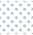 Waterslide in pool pattern vector image
