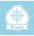 winter sale design vector image vector image