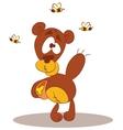 Hungry Bear Eats Honey vector image