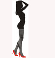 striped stockings vector image