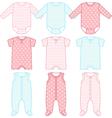 Set of child wear vector image