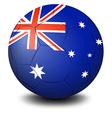a soccer ball with flag australia vector image vector image