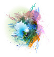 abstract color splash vector image