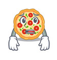 afraid margherita pizza isolated with cartoons vector image vector image