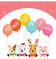 Animals Holding Balloons vector image