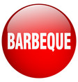 barbeque red round gel isolated push button vector image vector image