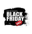 black friday sale banner with white text on vector image vector image