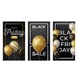 black friday vertical banner for stories golden vector image vector image