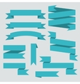Blue ribbons set vector image vector image
