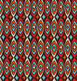 Boho seamless pattern vintage shapes background vector image