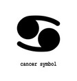 cancer symbol icon vector image