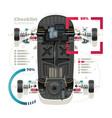car suspension checklist vector image