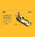 cargo maritime transport company website vector image