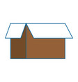 carton box isolated icon vector image