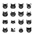 cartoon animals icons vector image