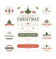 Christmas Labels and Badges Design vector image vector image