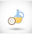 coconut oil flat icon vector image