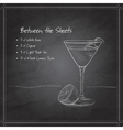 coctail Between the Sheets on black board vector image