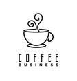 coffee logo cafe logo design inspiration vector image