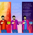colorful backgrounds for web banners vector image vector image