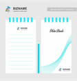 company design notepad with logo vector image