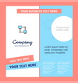 computer networks company brochure template vector image vector image