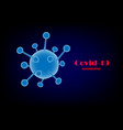 coronavirus official name covid-19 originated vector image