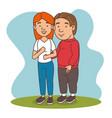 couple in love cartoon vector image vector image