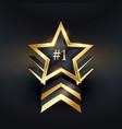 creative star no 1 winner label design vector image vector image