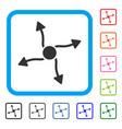 curve arrows framed icon vector image vector image