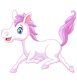 Cute beautiful pony horse running isolated vector image vector image