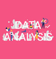data analysis word concept vector image