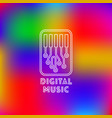digital music logo vector image vector image