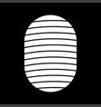 fingerprint white color icon vector image vector image