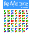 flags of Africa countries flat icons vector image