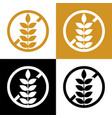 gluten free symbol icon or label set vector image