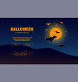 halloween landing page template with bats flying vector image